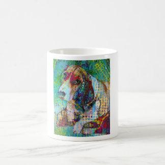 Colorful Daisy, Basset Hound Mug