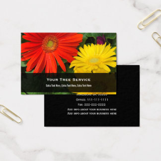 Colorful Daisy Business Card