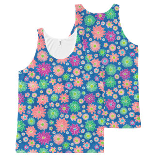 Colorful Daisy Flowers All-Over-Print Tank Top
