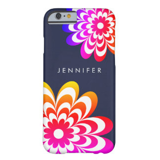 Colorful Daisy iPhone 6/6S Case - Dark Blue