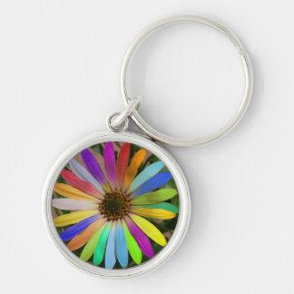 Colorful Daisy Keychain