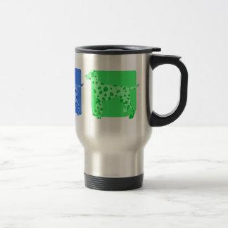 Colorful Dalmatian Silhouettes Travel Mug