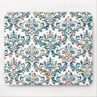Colorful Damask Mouse Pad