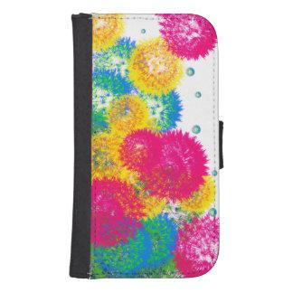 Colorful Dandels Case Galaxy S4 Wallets