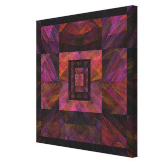 Colorful Dark Galaxy Of Blocks Artwork Canvas Print
