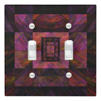Colorful Dark Galaxy Of Blocks Artwork Light Switch Cover