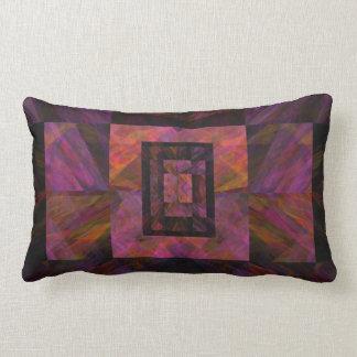 Colorful Dark Galaxy Of Blocks Artwork Lumbar Pillow