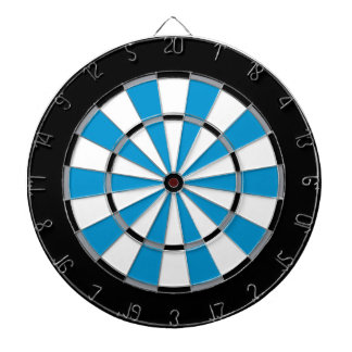 Colorful Dart Board in Carolina colors