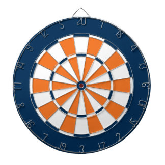 Colorful Dart Board in Chicago colors