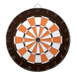 Colorful Dart Board in Cleveland colors.