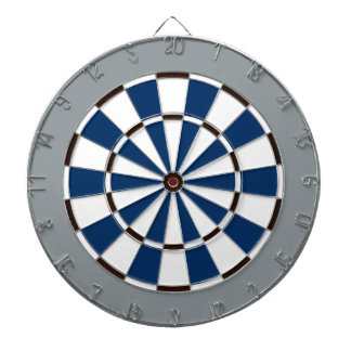 Colorful Dart Board in Dallas colors