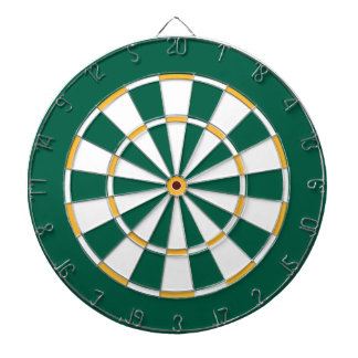 Colorful Dart Board in Green Bay colors