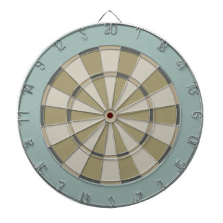 Colorful Dart Board in Muted Neutrals