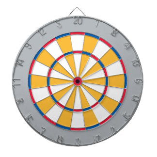Colorful Dart Board in Pittsburgh colors