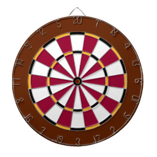 Colorful Dart Board in Washington colors