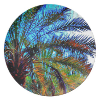 Colorful Date Tree Dinner Plate