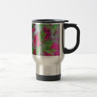 Colorful decorative feathers pattern travel mug