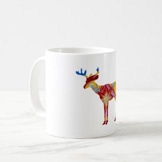 Colorful Deer  325 ml  Classic White Mug