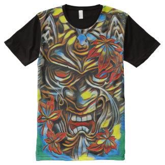 Colorful Demon Mask Fantasy Oil Paint