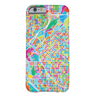 Colorful Denver Map Barely There iPhone 6 Case