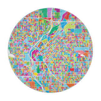 Colorful Denver Map Boards