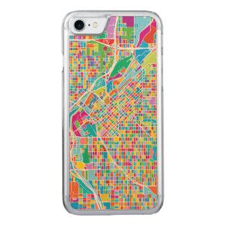 Colorful Denver Map Carved iPhone 8/7 Case