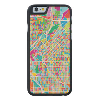 Colorful Denver Map Carved Maple iPhone 6 Case