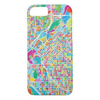 Colorful Denver Map Case-Mate iPhone Case
