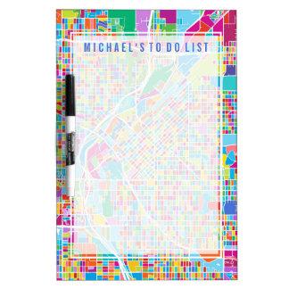 Colorful Denver Map Dry Erase Board
