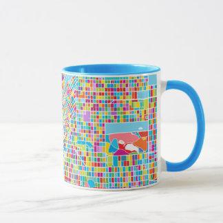 Colorful Denver Map Mug
