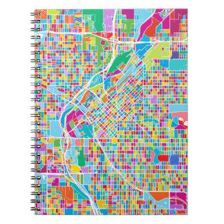 Colorful Denver Map Notebooks