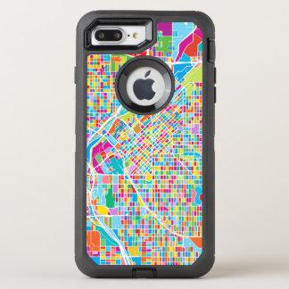 Colorful Denver Map OtterBox Defender iPhone 8 Plus/7 Plus Case