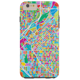 Colorful Denver Map Tough iPhone 6 Plus Case
