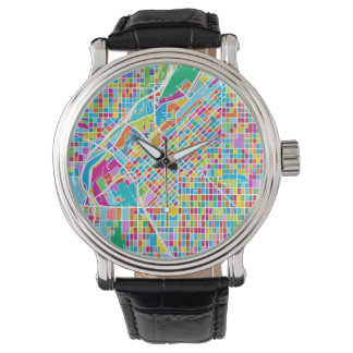 Colorful Denver Map Watch