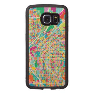 Colorful Denver Map Wood Phone Case