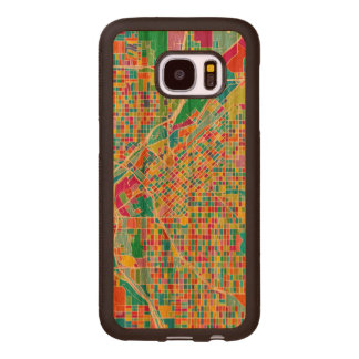 Colorful Denver Map Wood Samsung Galaxy S7 Case