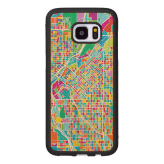 Colorful Denver Map Wood Samsung Galaxy S7 Edge Case