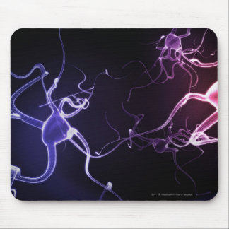 Colorful depiction of neurons mouse pad