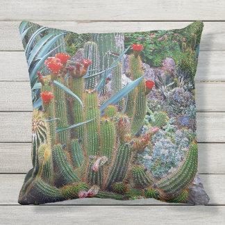 Colorful Desert Botanical Garden Outdoor Pillow. Outdoor Pillow