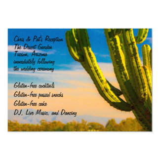 Colorful Desert Cactus Menu Reception Card