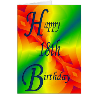 Colorful Design 18th Birthday Card