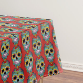 Colorful Design Dia de los Muertos Day Of The Dead Tablecloth
