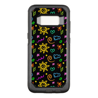 Colorful design of background for kids OtterBox commuter samsung galaxy s8 case