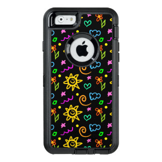 Colorful design of background for kids OtterBox iPhone 6/6s case