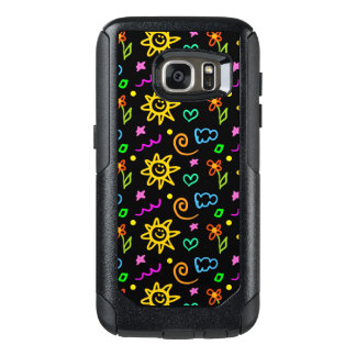 Colorful design of background for kids OtterBox samsung galaxy s7 case