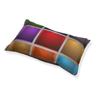 Colorful Designer Dog Bed for Fur Baby Fur Child Small Dog Bed