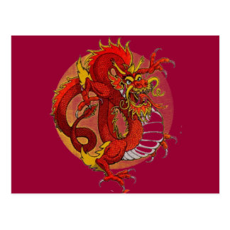 COLORFUL DESIGNS! -- DRAGON ART POSTCARDS