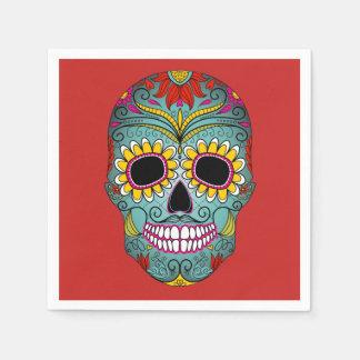 Colorful Dia de los Muertos Day Of The Dead Party Napkin
