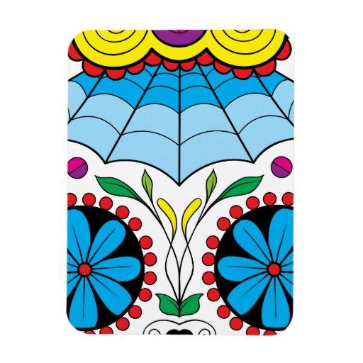 """Colorful """"Dia Des Los Muertos"""" 3""""x4"""" Photo Magnet"""