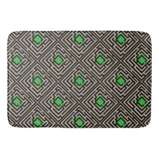 Colorful Diagonal Maze Pattern on Custom Color Bathroom Mat